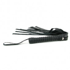 Sex & Mischief Faux Leather Flogger -Black