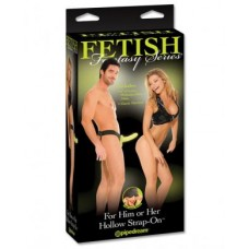 Fetish fantasy series for him or her hollow strap on - glow in the dark