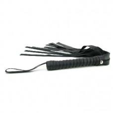 Sex & Mischief Faux Leather Flogger -Black
